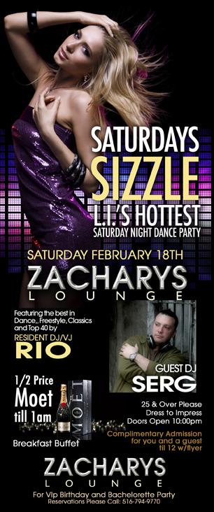 Zacharys Lounge Nightclub - Saturdays Sizzle